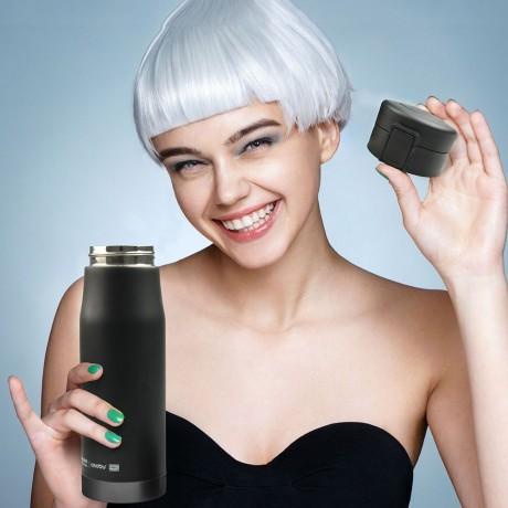 500 мл двустенен термос в цвят черно/сиво ASOBU от серия LIBERTY