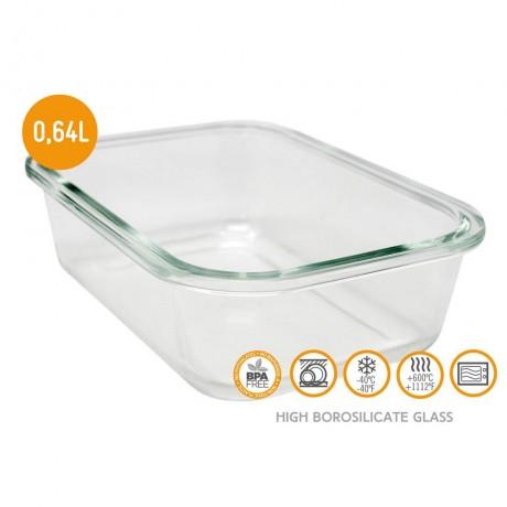 640 мл стъклена кутия за храна с херметическо затваряне Vin Bouquet/Nerthus