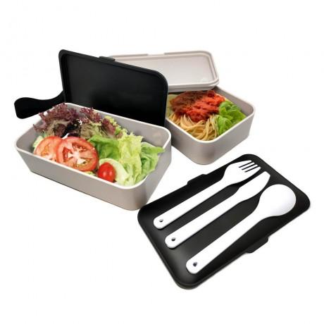 2 х 500 мл комплект херметични кутии за храна с прибори Vin Bouquet/Nerthus