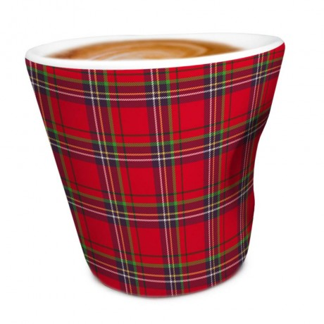 """100 мл порцеланова чаша за кафе """"RED TARTAN"""" от Vin Bouquet"""