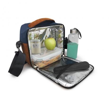 Синя термоизолираща чанта за храна с 2 джоба Vin Bouquet/Nerthus