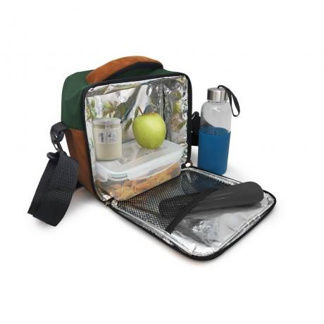 Зелена термоизолираща чанта за храна с 2 джоба Vin Bouquet/Nerthus