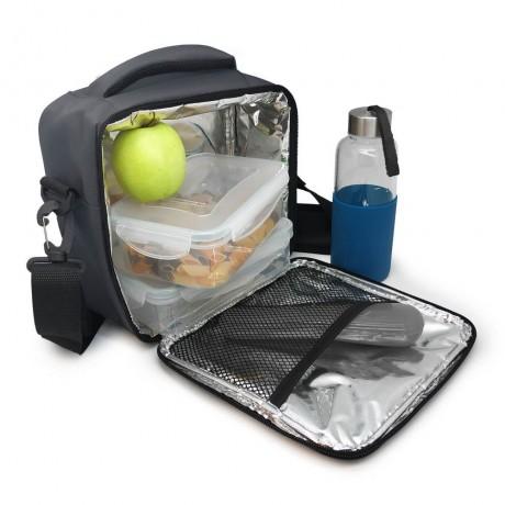 Сива термоизолираща чанта за храна с 2 джоба Vin Bouquet/Nerthus