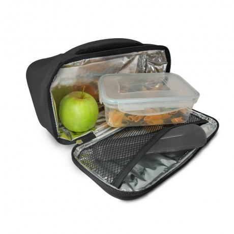 Черна термоизолираща чанта за храна Vin Bouquet/Nerthus
