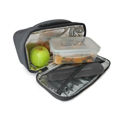 Сива термоизолираща чанта за храна Vin Bouquet/Nerthus