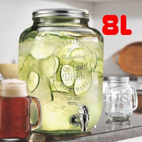 8 литра стъклен буркан с канелка