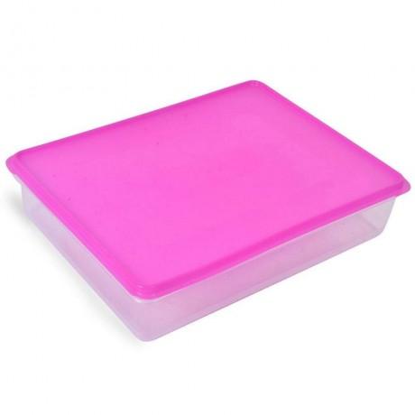 6 л. голяма кутия за храна с розов капак