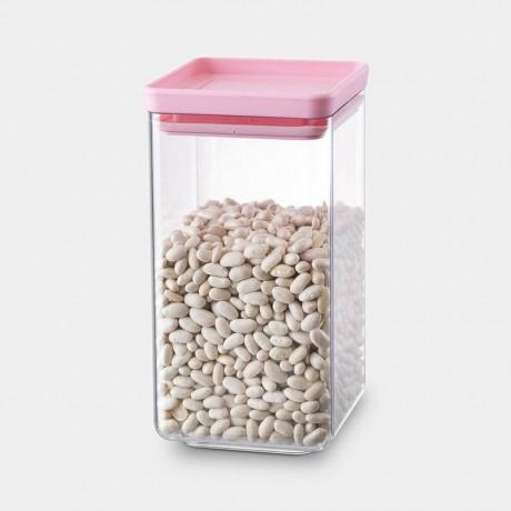 1,6 л квадратен буркан с розов капак Brabantia от серия Tasty Colours