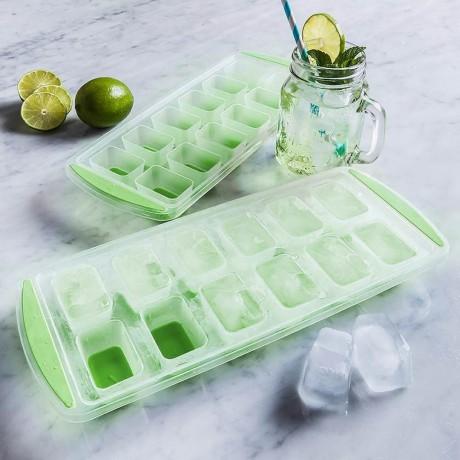 Форма за 12 големи кубчета лед със силиконови дъно