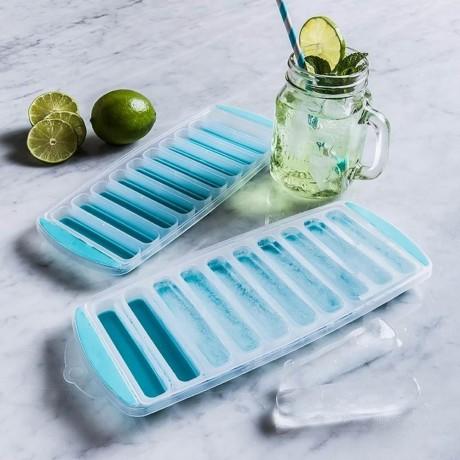Форма за 10 продълговати ледени блокчета със силиконово дъно