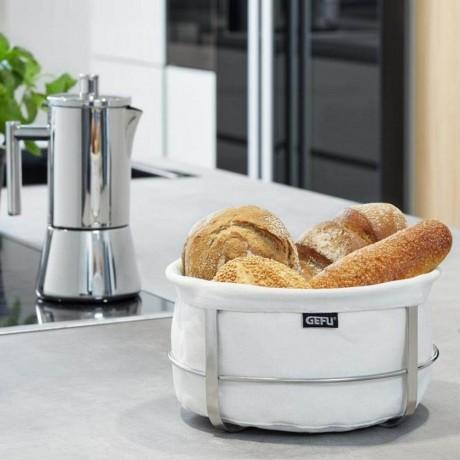 Бял кръгъл панер за хляб GEFU от серия BRUNCH