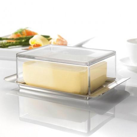 Кутия за масло с прозрачен капак GEFU от серия BRUNCH