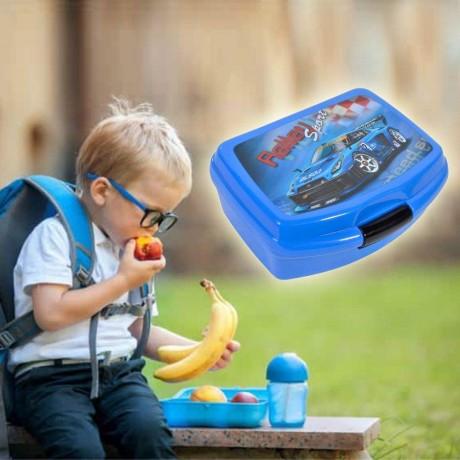 0,55 л. детска кутия за храна Ralley Sport с две отделения и прибори