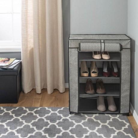 4 етажен текстилен шкаф за съхранение на обувки