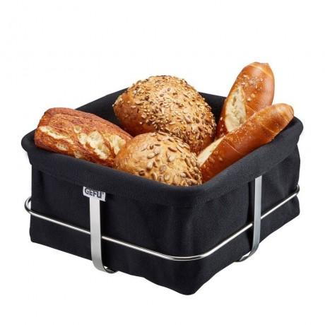 Черен квадратен панер за хляб GEFU от серия BRUNCH