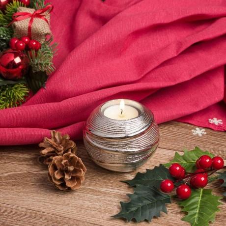 Коледен свещник за 1 чаена свещ