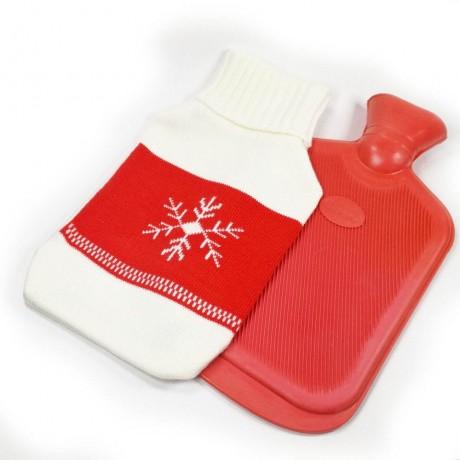 Текстилен калъф за 2 л. грейка със снежинка