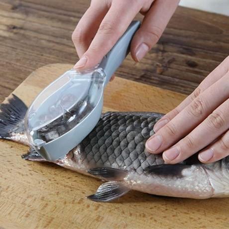Пластмасов уред за почистване на риба с контейнер