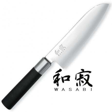 16,5 см нож KAI Santoku от серия Wasabi Black