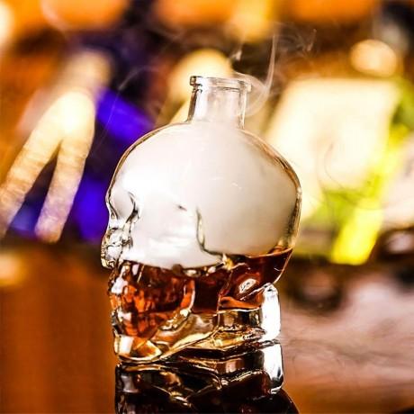 0,4 л. стъклена бутилка с коркова тапа - череп