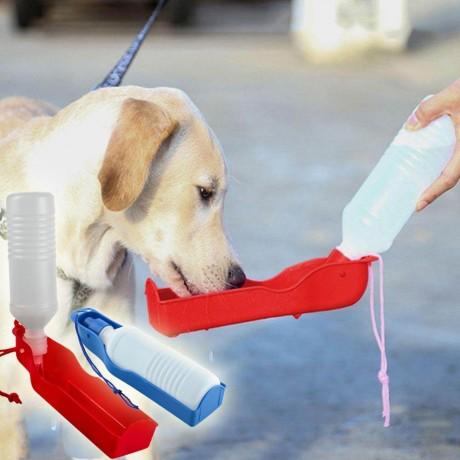 Кучешка бутилка за пиене на вода по време на разходка