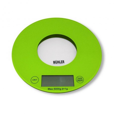 Зелена кухненска везна MUHLER модел KSC-2020R