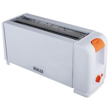 Тостер за 4 филии с оранжеви копчета MUHLER модел MT-1244