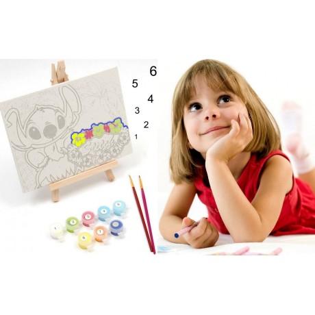 Оцветяване по числа с боички