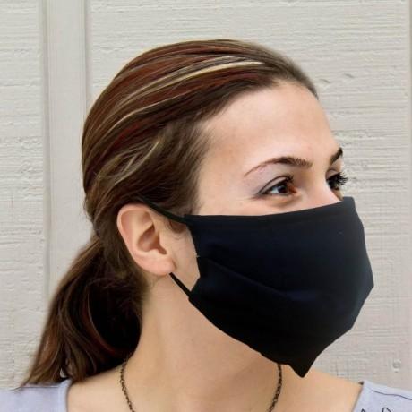 Тъмно синя трислойна хигиенна маска за многократна употреба