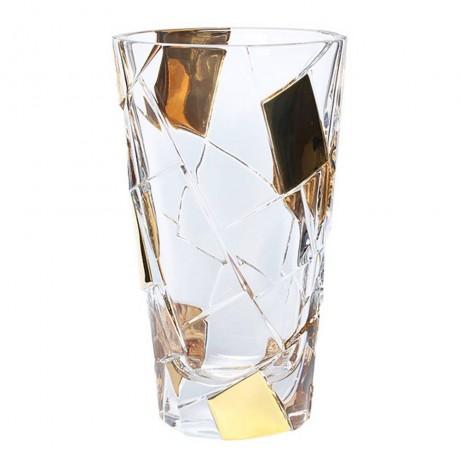 30.5 см ваза Bohemia от серия Crack Gold