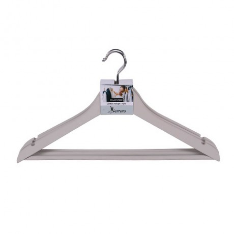 3 бр закачалки за дрехи Luigi Ferrero цвят слонова кост модел FR-4532NBC