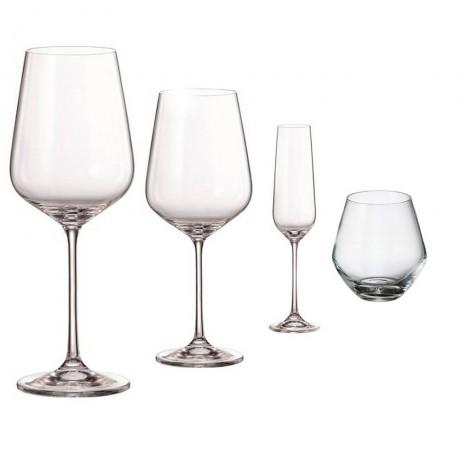 Комплект за вино от 16 части Bohemia Royal от серия Globo