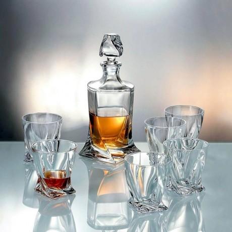 Комплект за уиски от 7 части Bohemia от серия Quadro
