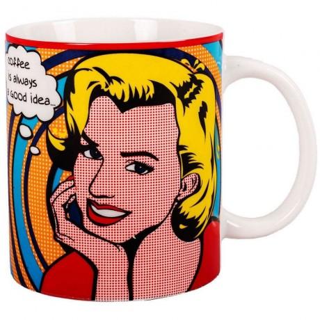 350 мл чаша с надпис Coffee is always a good idea...
