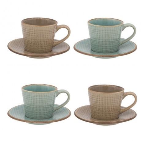 Комплект 4 чаши с чинийки за кафе