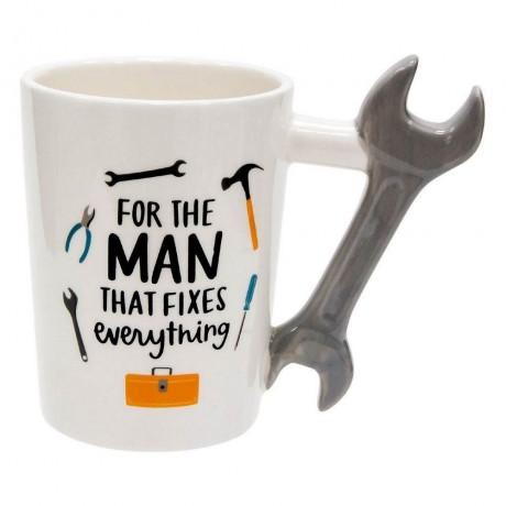 300 мл чаша с надпис FOR THE MAN THAT FIXES everything