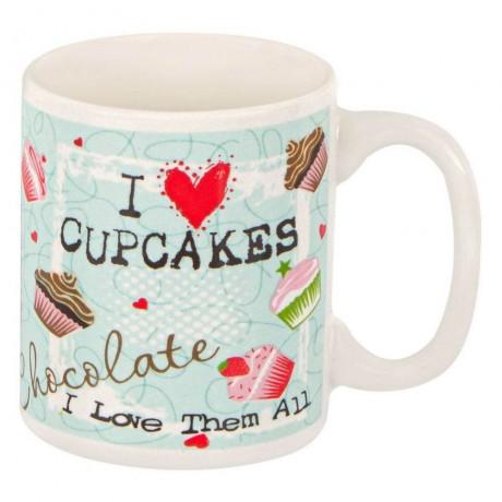 120 мл малка чаша с надпис I LOVE CUPCAKES