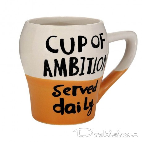 200 мл чаша с надпис CUP OF AMBITION served daily