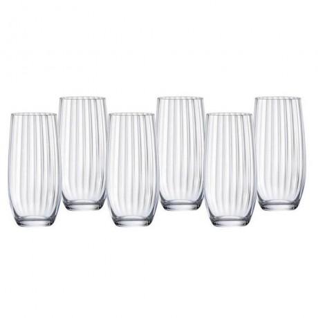 6 бр чаши по 350 мл Bohemia Royal от серия Waterfall