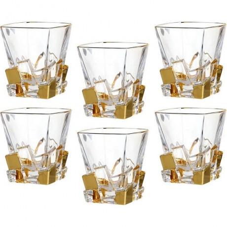 6 бр чаши за уиски по 310 мл Bohemia от серия Crack Gold