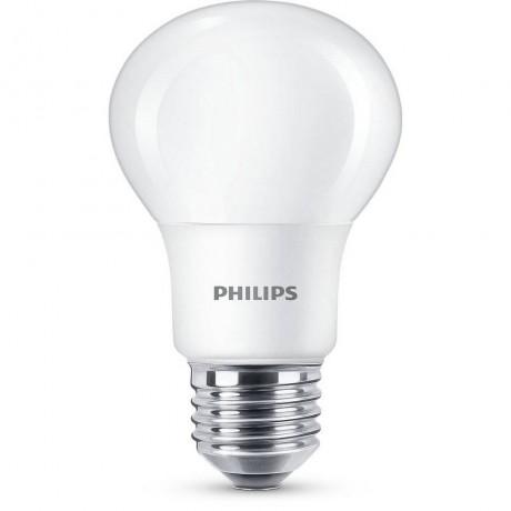 LED крушка Philips-Signify 8W-60W, E27, Топла бялa светлина