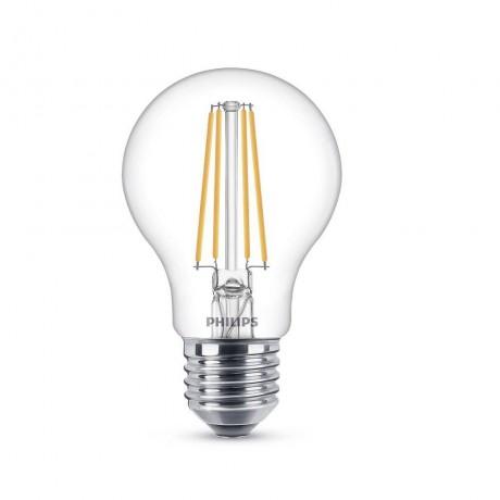 LED крушка Philips-Signify 7W-60W, E27, Топла бялa светлина