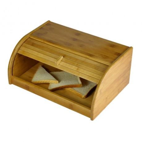 Голяма бамбукова кутия за хляб с плъзгаща вратичка BAMBOO