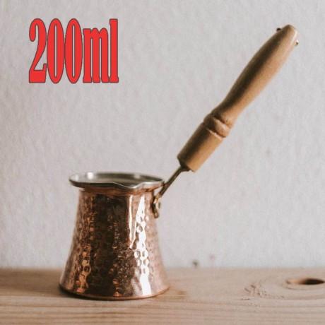 200 мл традиционно медно джезве за турско кафе