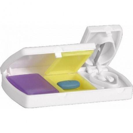 Кутия за хапчета с две отделения и резачка