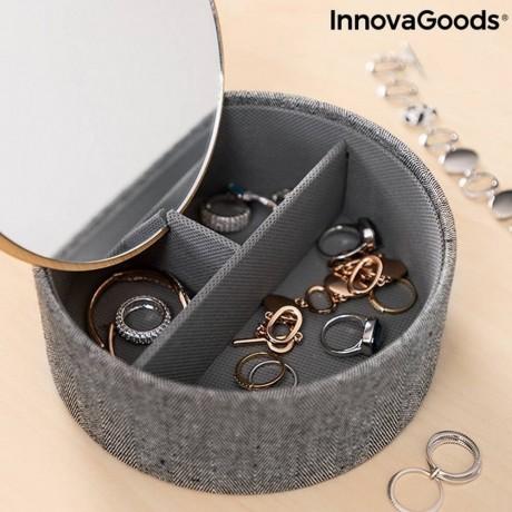 Бамбукова кутия-органайзер за бижута с огледало Mibox от Innovagoods