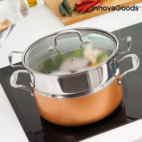 Съдове за готвене на пара Copper-Effect от InnovaGoods