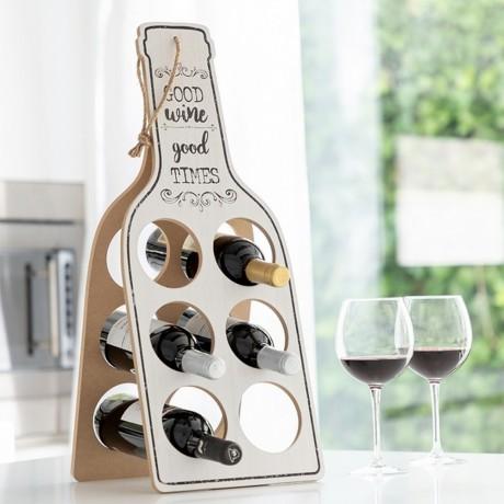 Сгъваем дървен шкаф за бутилки Good Wine