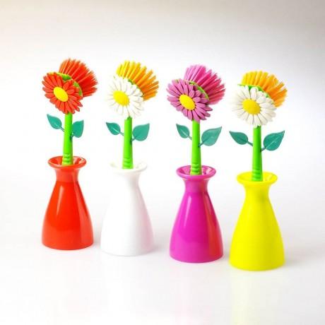 Четка за чинии във формата на цвете