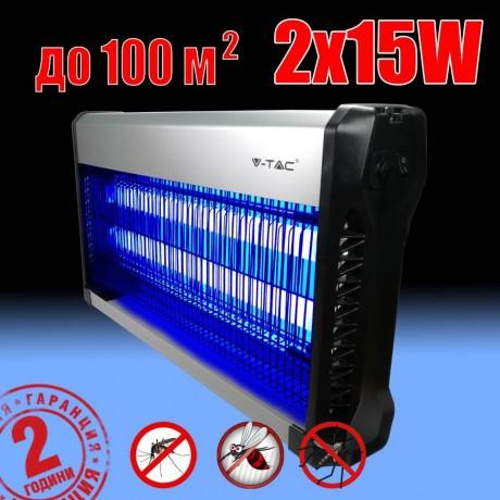 Електрическа инсектицидна лампа против насекоми 2х15 W марка V-TAC